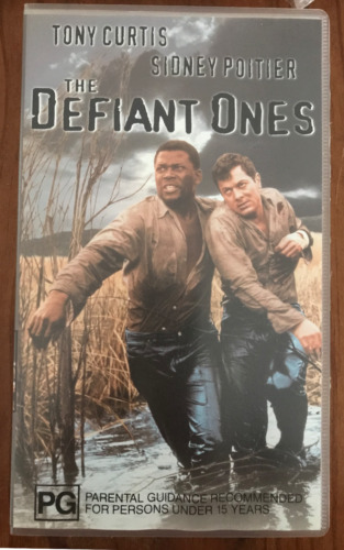 THE DEFIANT ONES SIDNEY POITIER TONY CURTIS  ORIGINAL AS NEW PAL VHS VIDEO