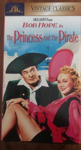 THE PRINCESS AND THE PIRATE BOB HOPE RARE AS NEW NTSC VIDEO FOR USA PLAYERS