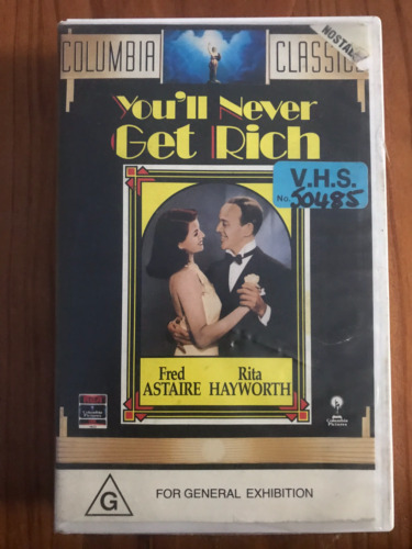 YOU'LL NEVER GET RICH FRED ASTAIRE RITA HAYWORTH ORIGINAL RARE PAL VHS VIDEO