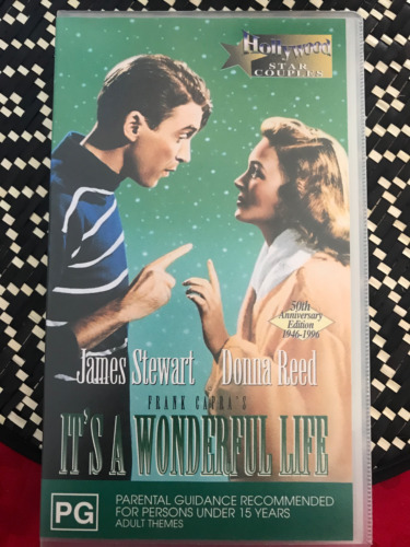 IT'S A WONDERFUL LIFE + MAKING OF JAMES STEWART ORIGINAL BRAND NEW PAL VHS VIDEO