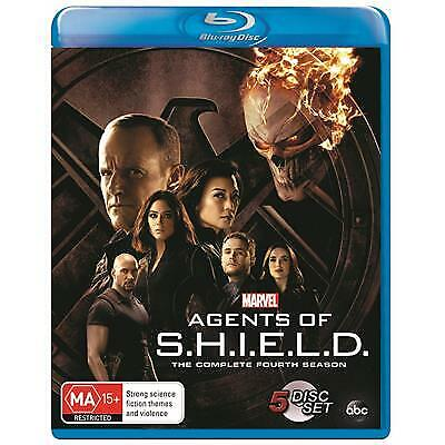 AGENTS OF S.H.I.E.L.D SEASON 4 BLU-RAY, NEW & SEALED, 2018 RELEASE, FREE POST.