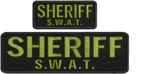 police tactical medic embroidery patches 4x10 and 2x5 hook on back od green