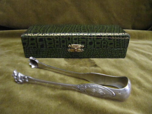 antique french sterling silver 950 sugar tongs Louis XVI 48g