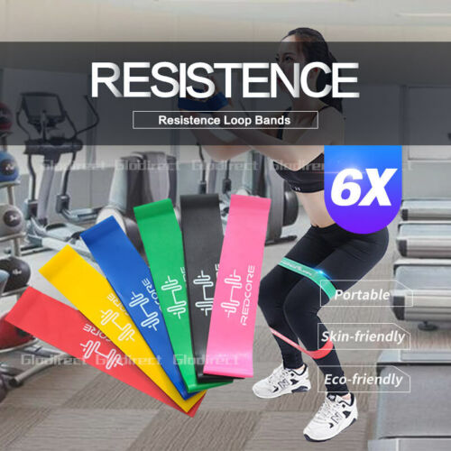 6PCS Resistance Bands Power Strength Exercise Fitness Gym Crossfit Yoga Workout <br/> ⚠️BUY 1, GET 1 AT 10% OFF⚠️ SYD STOCK⚠️FAST SHIPPING