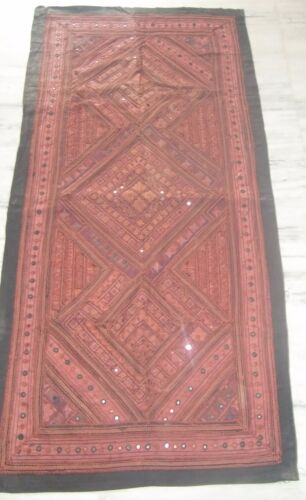 INDIAN OLD VINTAGE WALL EMBROIDERY TAPESTRY HANGING DECOR PATCHWORK HANDMADE