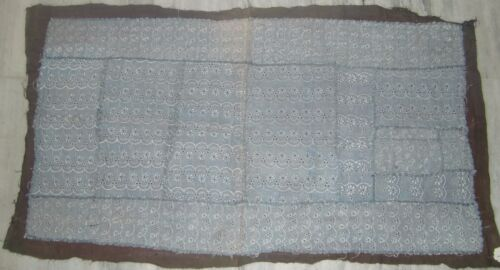 INDIAN OLD VERY FINE EMBROIDERY CHIKANKARI HOME DECOR WALL HANGING TAPESTRY