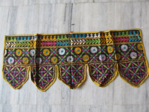 VINTAGE INDIAN TRIBAL HANDMADE WALL DECOR ETHNIC PATCH EMBROIDERY TAPESTRY #17
