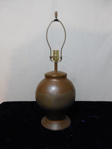 Vintage Art & Crafts Style Hammered Copper Lamp