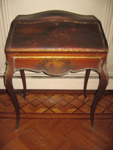 Antique French Louis XV Lady's Hand Painted Writing Desk