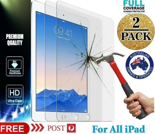 Tempered Screen Protector Apple Ipad 9.7 5 6 7th Gen Air 2 3 4 Mini 11 12.9 10.2 <br/> ✔Fast Delivery✔PremiumQuality✔AustralianSeller✔