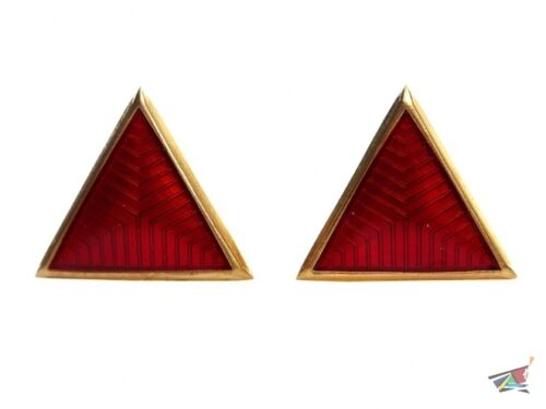 Collar rank insignia triangle enameled badges red green blue USSR RKKA VV NKVDReproductions - 156372