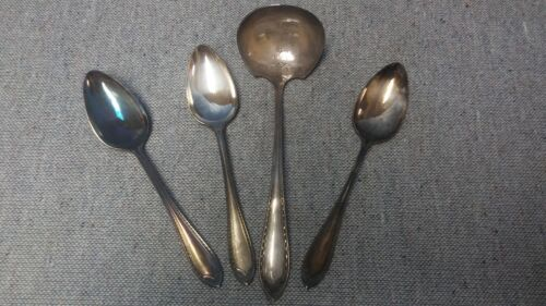 1 Soup Ladle 3 Tablespoons-Serving Spoons Sheraton Community Silverplate Oneida