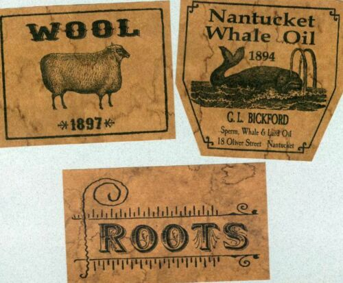 Whale Oil Prim Labels Set 26 Jelly Cupboard Pantry Labels