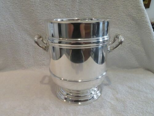 Gorgeous vintage french silverplate Champagne bucket Christofle Sully pattern et