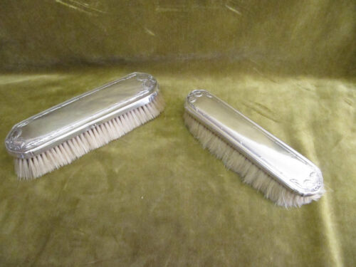 early 20th c french sterling silver 950 minerve 2 brushes (clothes) Louis XVI st