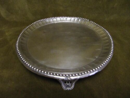 late 18th  c 750 (portugal-Lisbon) silver round salver / teapot stand 213gr