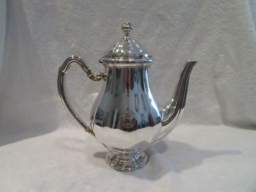 early 20th c french sterling silver large coffee pot G Keller Louis XIV st