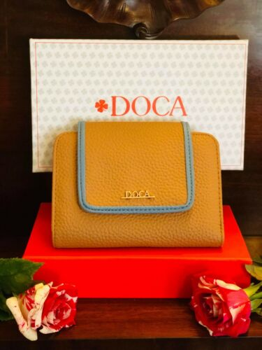 DOCA AUTHENTIC WALLET WOMEN'S FASHION MADE IN GREECE LIGHT BROWN