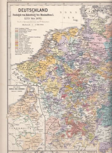 Germany from Rudolph of Habsburg to Maximilian I. 1273 bis 1492, map