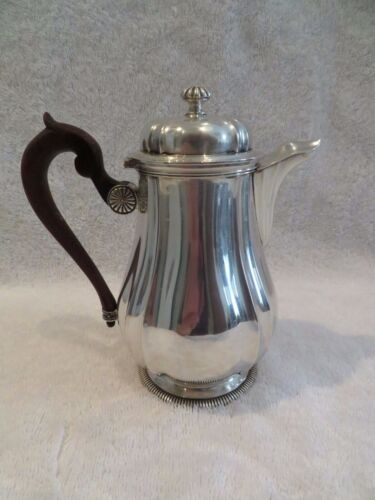 early 20th c french sterling 950 silver coffeepot for 2 Regence st 260g 9,17oz