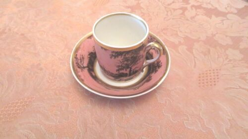 Lot of Antique Sevres Style Porcelain Hand-painted Cup and Saucer