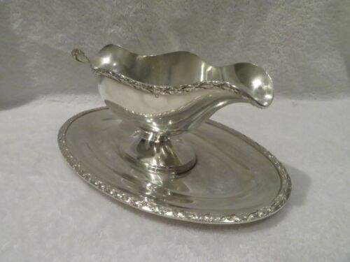early 20th c french sterling silver sauce boat Louis XVI st 485g 17,1oz