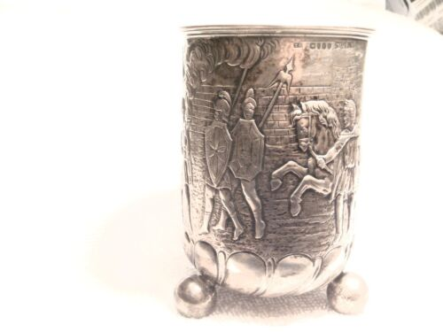 HANAU: STERLING BALL FOOTED GOBLET (NUREMBERG STYLE!) PSEUDO MARKS LONDON IMPORT