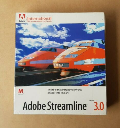 New - Adobe Streamline Version 3.0 Apple Macintosh MAC Line Tracing Program