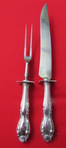 1911 Salem Pattern 2 Piece Carving Set by 1847 Rogers Silver Plate