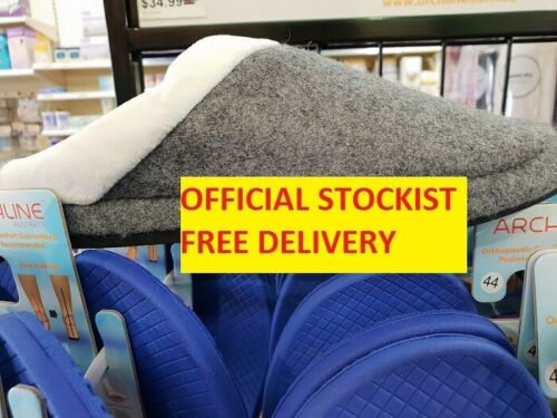 NEW ARCHLINE Arch Support Orthotic  Open Grey Slippers - FREE POST