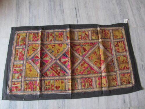 VINTAGE INDIAN TRIBAL HANDMADE WALL DECOR ETHNIC PATCH EMBROIDERY TAPESTRY #13