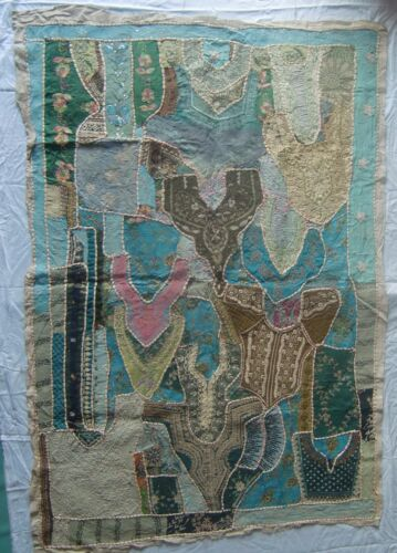 VINTAGE OLD WALL HANGING TRIBAL HOME DECOR ETHNIC PATCH EMBROIDERY TAPESTRY # 3