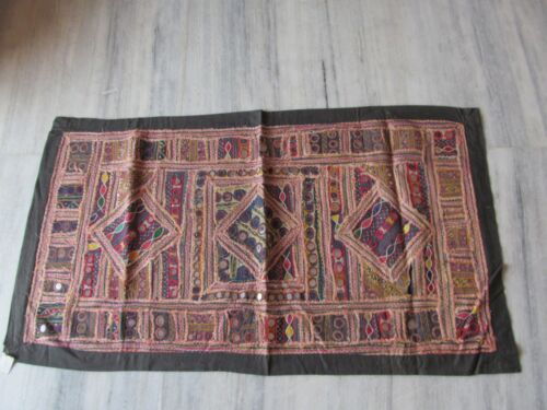 VINTAGE INDIAN TRIBAL HANDMADE WALL DECOR ETHNIC PATCH EMBROIDERY TAPESTRY #11