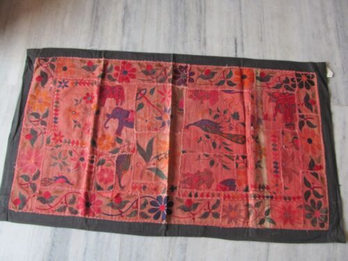 VINTAGE INDIAN TRIBAL HANDMADE WALL DECOR ETHNIC PATCH EMBROIDERY TAPESTRY #15