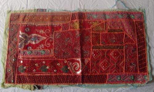 VINTAGE OLD WALL HANGING TRIBAL HOME DECOR ETHNIC PATCH EMBROIDERY TAPESTRY # 1