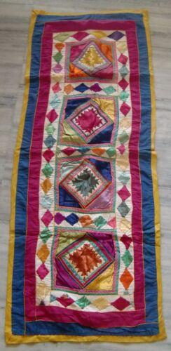 INDIAN COLORFUL ETHNIC VINTAGE PATCH WORK TAPESTRY WALL HANGING HOME DECORATION