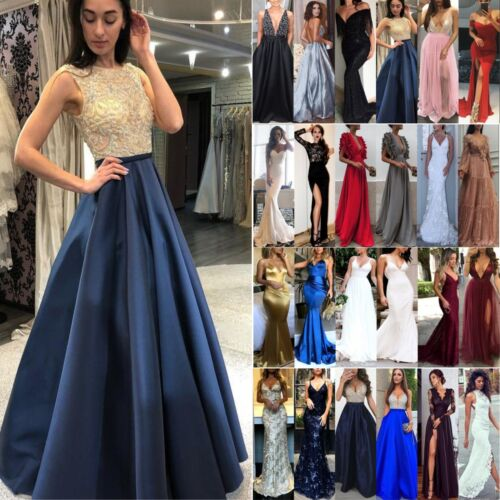 Womens Formal Maxi Dress Prom Evening Party Cocktail Bridesmaid Wedding Gown
