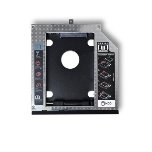 """2nd HDD Caddy 9.5mm 2.5"""" SATA Hard Drive Adapter For Laptop Universal CD/DVD-ROM"""