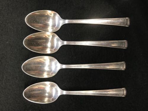 Four (4) TEASPOONS - JOHN & PRISCILLA Pattern by WESTMORLAND STERLING - 1940