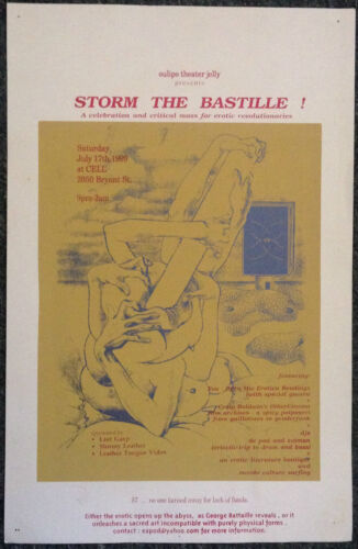 Oulipo theater jelly, Storm The Bastile! Poster. . .Cell, San Francisco, 1999