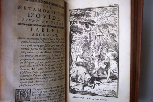 Rare METAMORPHOSES D'OVIDE, BANIER FRENCH VOL.I & II, 1742,  6 Engravings