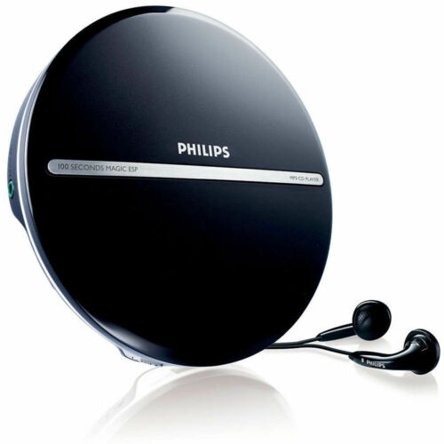 Philips Portable MP3 CD CD-R CD-RW Disc  Player/JogProof 100 sec + Earphones