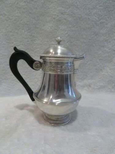 late 19th c french sterling silver single serve coffeepot LXIV st Boin Taburet