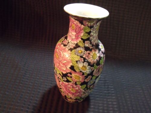 """18th Century Qianlong Marked Small 6 1/4"""" Hand Painted Porcelain Vase"""