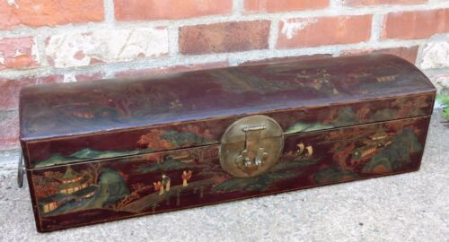 Antique Chinese Leather Document Lacquered Box