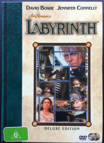 LABYRINTH David Bowie, Jennifer Connelly - Deluxe Edition 2 disc boxed DVD