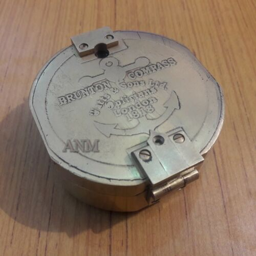 Antique Brass Brunton Compass Nautical Gift