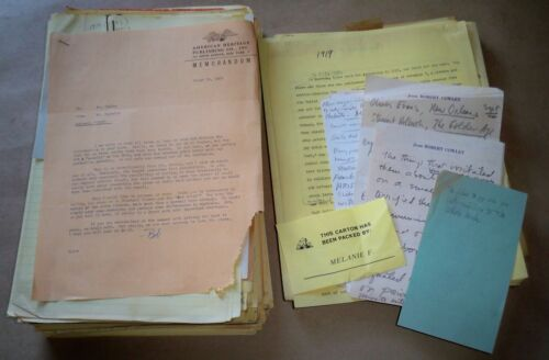 Robert Cowley 1966 Hand Written & Typed Manuscript 500+ Pages