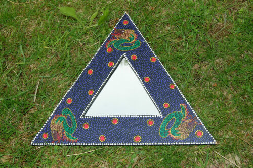 NEW!! Dragon Motif With Triangle Frame  Mirror  Imported From Indonesia