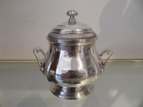 Gorgeous french sterling 950 silver sugar bowl Gadroons Christofle 374g 13,2oz